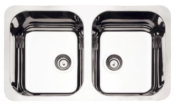 Cuba para Cozinha Retangular Plus 2C  34 BL Cod. 94033/202 Dimensões Produto (Compr. X Larg. X Alt.): 775x450x170 mm.