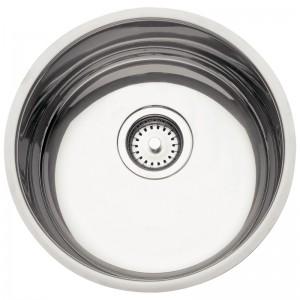Cuba para Cozinha em aço Inox AISI 304 Redonda 38 BL Prime COD:94014/202 Dimensões Produto (Compr. X Larg. X Alt.): 380x380x170 mm