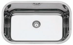 Cuba para Cozinha em aço Inox AISI 304 Retangular 47 BL COD:94022/207 Dimensões Produto (Compr. X Larg. X Alt.): 470x305x170 mm
