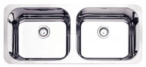Cuba para Cozinha Retangular 2C  40 BL Cod. 94031/202 Dimensões Produto (Compr. X Larg. X Alt.): 890x390x170 mm.