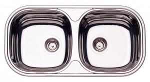 Cuba para cozinha Retangular 2C 34 BS Cod.94032/207 Dimensões Produto (Compr. X Larg. X Alt.): 780x398x145 mm.