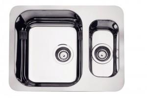 Cuba para cozinha Retangular 1.5C 34 BL Cod.94036/122 Dimensões Produto (Compr. X Larg. X Alt.): 580x450x170 mm.