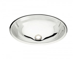 Cuba para Lavabo em aço Inox AISI 304 Oval COD:94115/107 Dimensões Produto (Compr. X Larg. X Alt.): 400x275x125 mm.