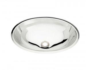 Cuba para Lavabo em aço Inox AISI 304 Oval COD:94115/207 Dimensões Produto (Compr. X Larg. X Alt.): 400x275x125 mm.